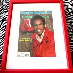Sugar Ray Leonard autographed 1982 Sports Illustrated cover matted & framed