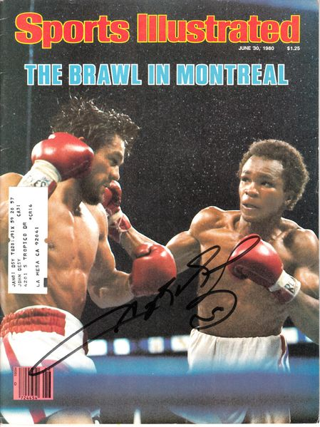 Sugar Ray Leonard autographed Brawl in Montreal 1980 Sports Illustrated