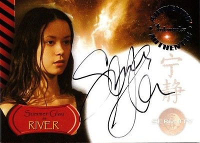 Summer Glau certified autograph Serenity (Firefly) 2005 Inkworks card A7 Firefly