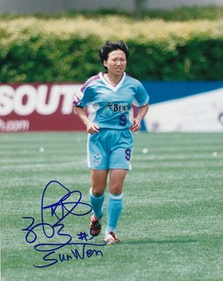 Sun Wen autographed WUSA Atlanta Beat 8x10 photo