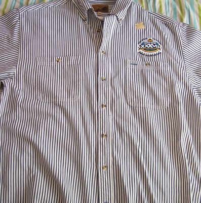 Super Bowl 37 short sleeve dressy casual shirt by Port Authority (Tampa Bay Buccaneers win)