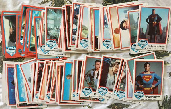 Superman 1978 Topps trading cards near complete Series 1 set plus 10 Series 2 cards