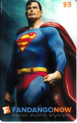 Superman 2016 Comic-Con Fandango Now plastic promo card