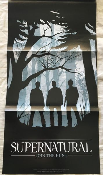 Supernatural 2014 Comic-Con double sided Join the Hunt foldout 10x20 inch poster