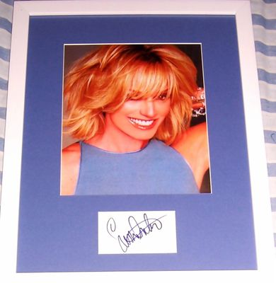 Susan Anton autograph matted and framed with 8x10 photo