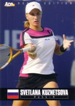 Svetlana Kuznetsova 2005 Ace Authentic Rookie Card