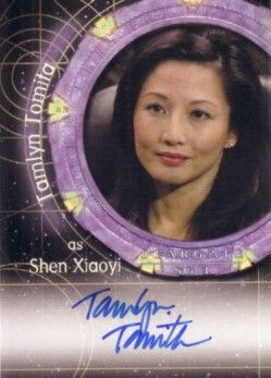 Tamlyn Tomita certified autograph Stargate SG-1 card
