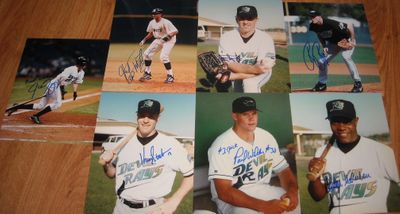 Tampa Bay Devil Rays autographed 8x10 photos (Felix Martinez Quinton McCracken Ryan Rupe Dennis Springer Kevin Stocker Jason Tyner Paul Wilson)