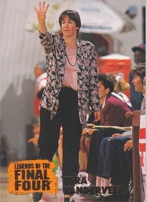 Tara Vanderveer Stanford Cardinals 1996 Classic Legends of the Final Four card