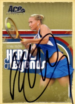 Tatiana Golovin autographed 2006 Ace Authentic tennis card