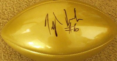 Taylor Jacobs (Florida Gators) autographed NFL full size replica gold football