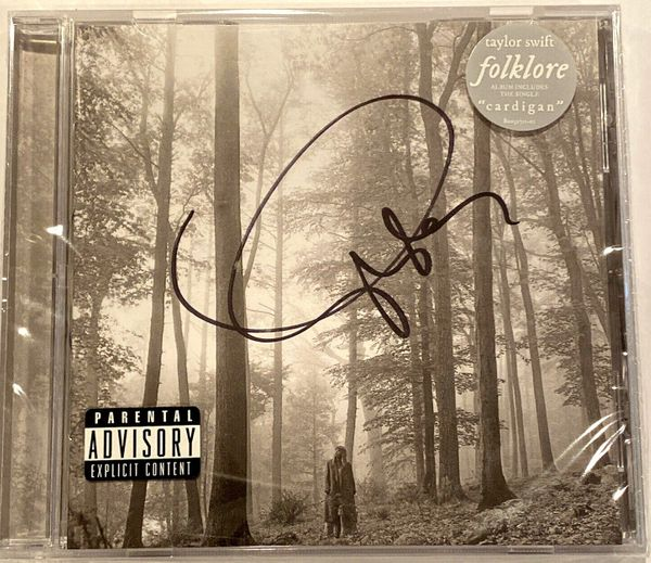 Taylor Swift autographed Folklore CD booklet factory sealed with CD