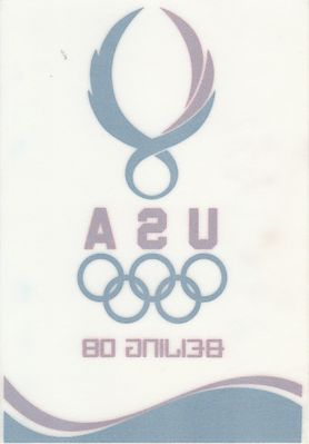 Team USA 2008 Beijing Olympics 3 1/2 by 5 inch static window cling