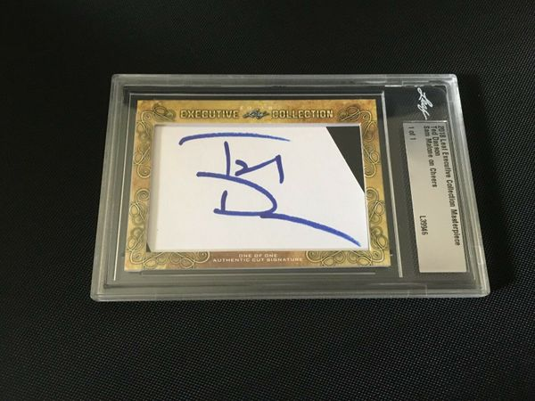 Ted Danson 2018 Leaf Masterpiece Cut Signature certified autograph card 1/1 JSA Cheers The Good Place