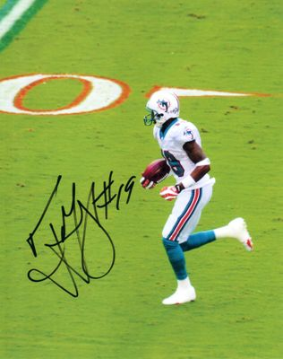 Ted Ginn Jr. autographed Miami Dolphins 8x10 photo