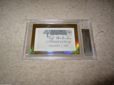 Ted Hendricks 2014 Leaf Masterpiece Cut Signature certified autograph card 1/1 JSA