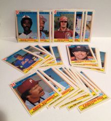 Ted Simmons autographed Milwaukee Brewers 1984 Ralston Purina card with complete set