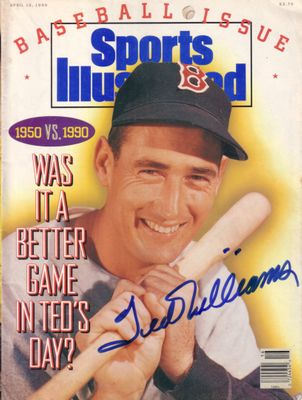 Ted Williams autographed Boston Red Sox 1990 Sports Illustrated