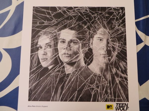 Teen Wolf 2015 Comic-Con artwork 18x18 lithograph or poster (Scott Stiles and Lydia)