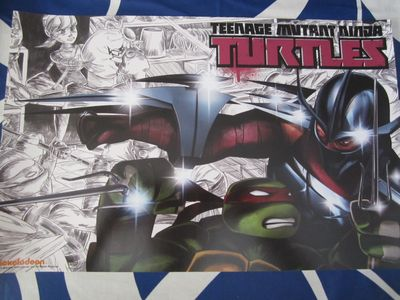 Teenage Mutant Ninja Turtles 2014 Comic-Con Nickelodeon mini promo poster