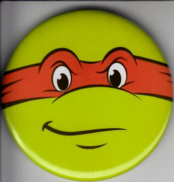 Teenage Mutant Ninja Turtles 2016 Comic-Con Nickelodeon promo button or pin