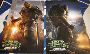 Teenage Mutant Ninja Turtles set of 3 mini 2014 movie posters