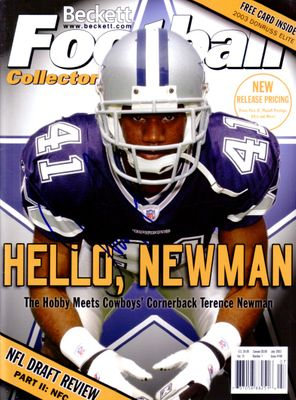 Terence Newman autographed Dallas Cowboys 2003 Beckett Football magazine