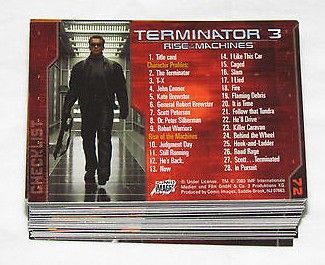 Terminator 3 Rise of the Machines movie 2003 Comic Images complete 72 card set