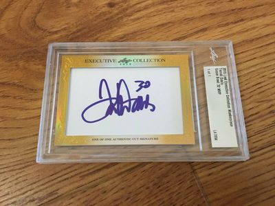Terrell Davis 2015 Leaf Masterpiece Cut Signature certified autograph card 1/1 JSA