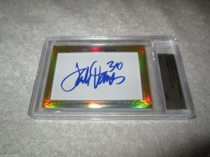 Terrell Davis and Mike Anderson 2014 Leaf Masterpiece Cut Signature certified autograph card 1/1 JSA