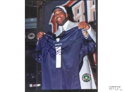 Terrell Suggs autographed Baltimore Ravens 8x10 NFL Draft photo
