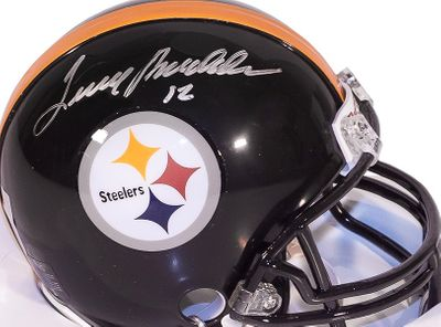 Terry Bradshaw autographed Pittsburgh Steelers mini helmet