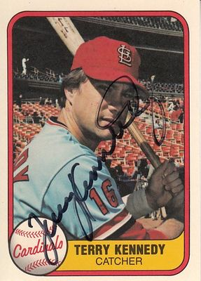 Terry Kennedy autographed St. Louis Cardinals 1981 Fleer card
