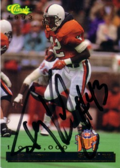 Terry Kirby autographed Virginia Cavaliers 1993 Classic card