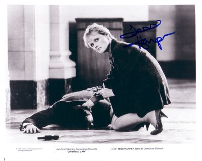 Tess Harper autographed 8x10 Criminal Law photo