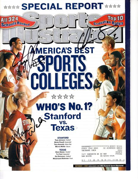 Teyo Johnson and Chris Simms autographed 2002 Sports Illustrated