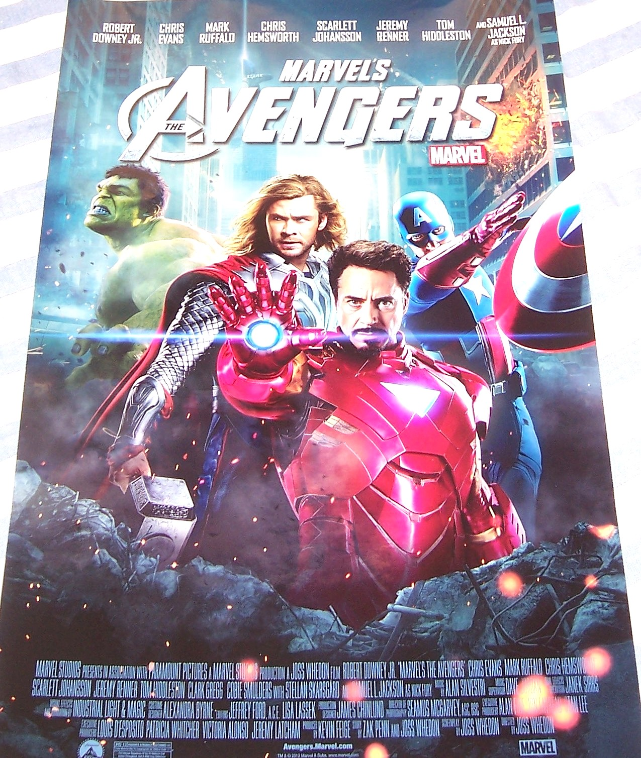 Avengers mini 13x20 inch glossy 2012 movie poster (Captain ...