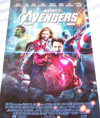 Avengers mini 13x20 inch glossy 2012 movie poster (Captain America Hulk Iron Man Thor)