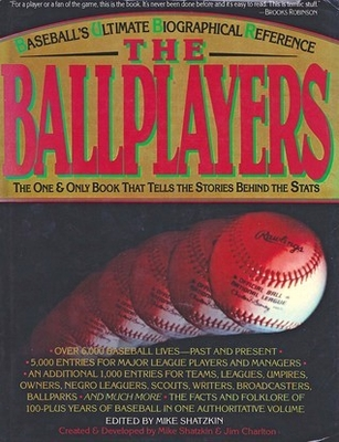 The Ballplayers 1990 baseball reference hardcover book
