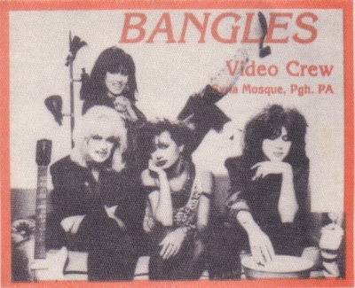 The Bangles 1986 Pittsburgh Syria Mosque Video Crew backstage pass