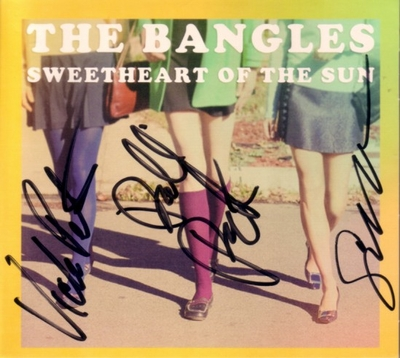 The Bangles autographed Sweetheart of the Sun CD (Susanna Hoffs Debbi and Vicki Peterson)