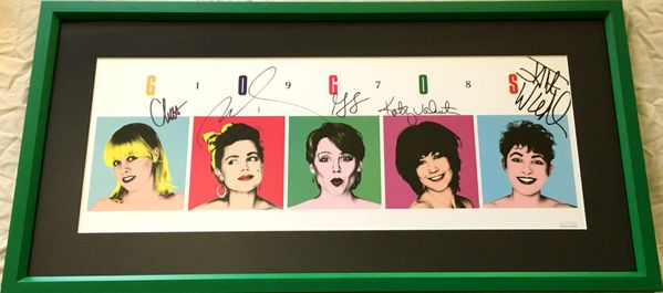 The Go-Go's complete band autographed 40th Anniversary poster matted & framed