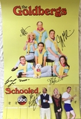 The Goldbergs cast autographed 2018 Comic-Con 13x20 inch poster (Jeff Garlin Hayley Orrantia)