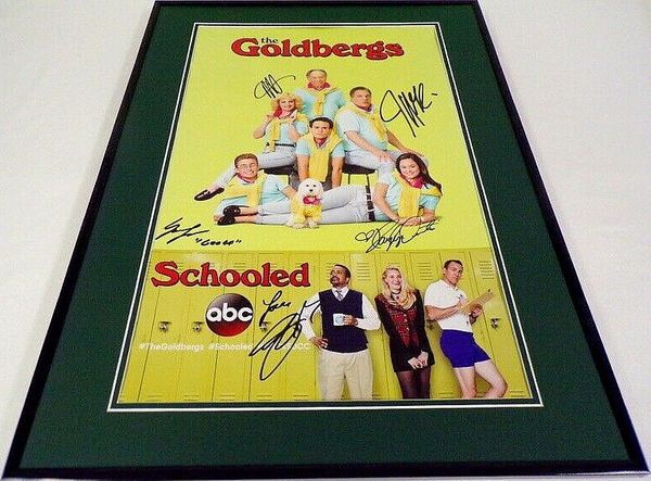 The Goldbergs cast autographed 2018 Comic-Con poster matted and framed (Jeff Garlin Hayley Orrantia)