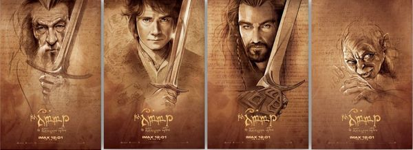 The Hobbit set of 4 movie posters (IMAX midnight screening EXCLUSIVE)