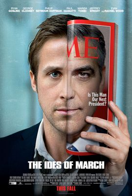 The Ides of March mini movie poster (George Clooney Ryan Gosling)