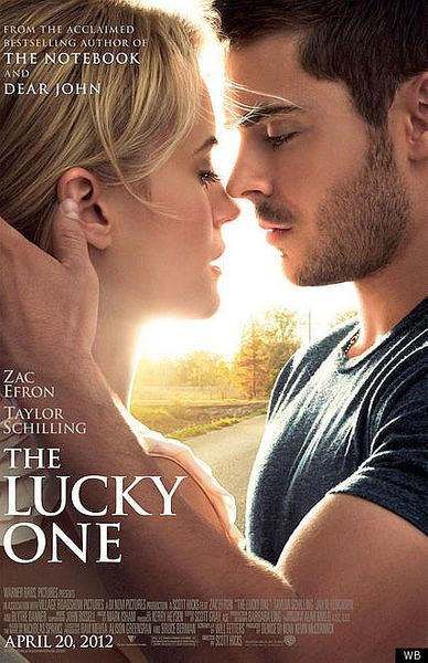 The Lucky One mini movie poster (Zac Efron Taylor Schilling)
