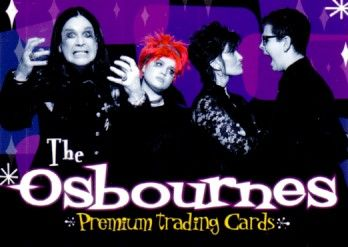 The Osbournes 2002 Inkworks promo card P0