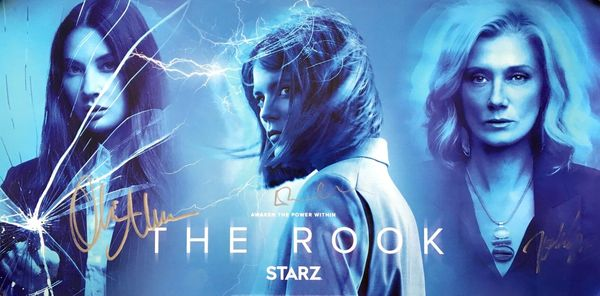 Olivia Munn Emma Greenwell Joely Richardson autographed The Rook 2019 Comic-Con 12x24 poster