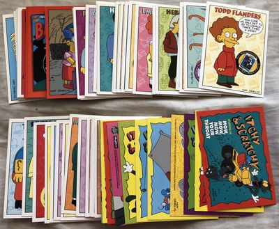 The Simpsons 1994 SkyBox Series 2 near complete trading card set (75/80)